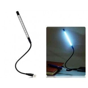 Гибкая  металлическая ножка Ultra Bright USB лампа (черный)