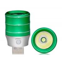 1.0W алюминиевого сплава высокой яркости USB светодиодная лампа (зеленый)