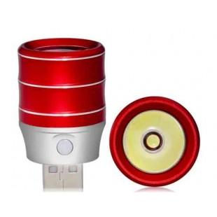 1.0W из алюминиевого сплава высокой яркости USB светодиодная лампа (красный)