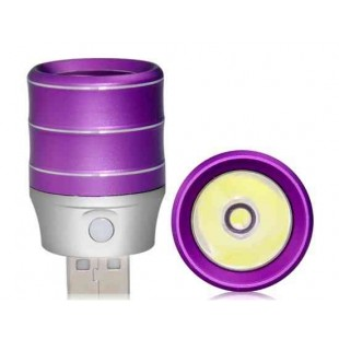 1.0W алюминиевого сплава высокой яркости USB светодиодная лампа (фиолетовый)