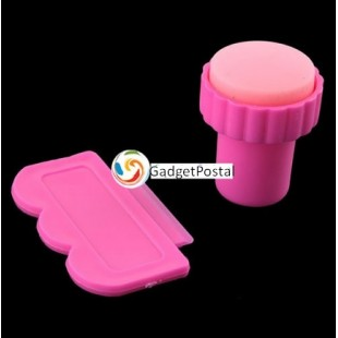 Nail Art ручной штамп для ногтей - Стемпинг