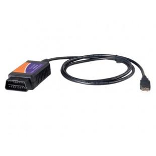 OBD2 ELM327 USB v1.5 автомобиля диагностический тест линии (черный + оранжевый)