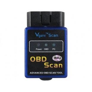 Автомобильный мини адаптер Bluetooth OBD для диагностики ошибок (синий)