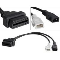 Переходной кабель для VW & Audi 2x2 диагностический разъем OBD2 к 16 Pin (черный)