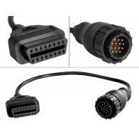 43 см кабеля-переходника для Benz 14 контактный разъем для OBD 2 16 контактный разъем (черный)