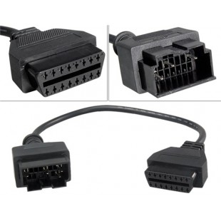 Переходной кабель для KIA 5 контактный разъем для OBD2 16 контактный разъем (черный)