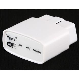 Vgate Wi-Fi Мини ELM327 OBD2 автомобиля диагностический сканер (белый)