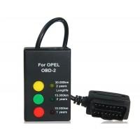 Горячая автомобилей 16-контактный Сброс инспекции интервальных паевых с диагностическим разъемом для OPEL автомобилей (черный)