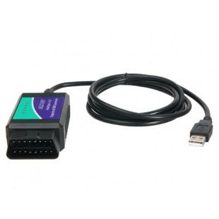 ELM327 USB OBD2 автомобиля диагностический сканер (зеленый)