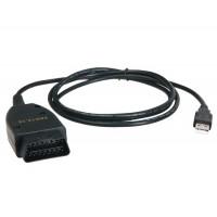 VAG12.10.3 OBD 2 диагностический кабель для VW, Audi, Skoda (черный)