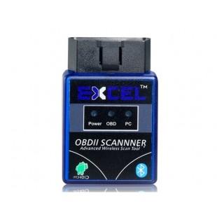 EXCEL OBD2 ELM327 OBD-II сканер Bluetooth Детектор автоматический диагностический инструмент (черный)