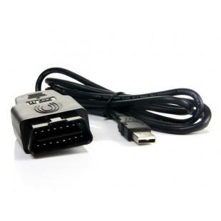 USB для OBD 16-контактный Автомобильный диагностический кабель OBDII (черный)