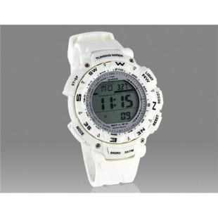 стильные мужские цифровые часы с белой светодиодной подсветкой (белые)