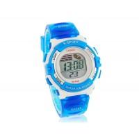 Водонепроницаемые часы с пластиковым ремешком (синие)