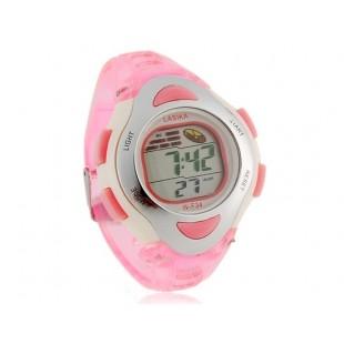 Электронные часы с пластиковым ремешком (розовый)
