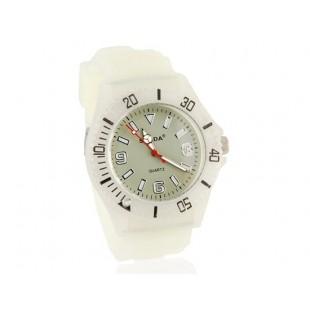Светящиеся в темноте Круглый циферблат аналоговые часы (белые)