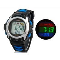 Купить водонепроницаемые цифровые часы с пластиковым ремешком (серебро)