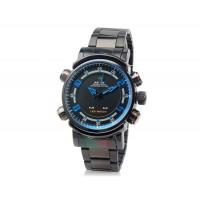 WH-1101 Аналоговые и светодиодные спортивные часы (синие)
