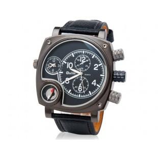 Кварцевые аналоговые Спортивные часы - компас (черные)