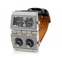 Кварцевые аналоговые спортивные часы (черные)