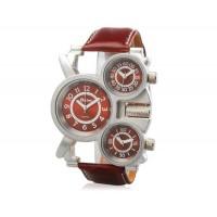 Кварцевые аналоговые спортивные часы (коричневые)