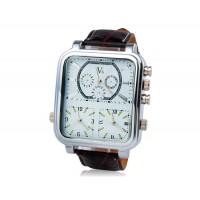 Кварцевые аналоговые спортивные часы (белые)