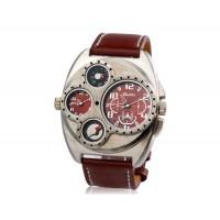 Кварцевые аналоговые спортивные часы с термометром и компасом (Браун)