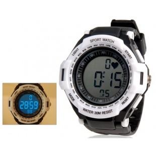 Спортивные часы с 30 м Водонепроницаемость (белые)