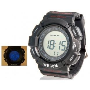 Пояс беспроводной импульсный спортивные часы (черные)