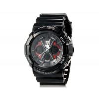 SKMEI 0966 5ATM водостойкие аналоговые и Цифровые спортивные часы с пластиковым ремешком (черные)