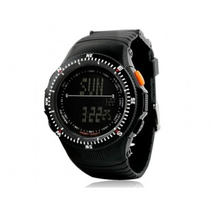 SKMEI 0989 5ATM водостойкие цифровые часы с мягким пластиковым ремешком (черные)