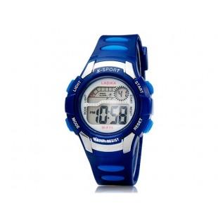 F71 Unisex  спортивные наручные часы с подсветкой (синие)