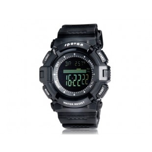 Spovan SPV706  многофункциональные цифровые часы Барометр Рыбалка (черные)