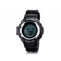 Spovan Blade II-A Круглый циферблат цифровые спортивные часы (черные)