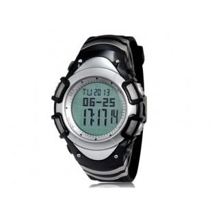 Spovan Круглый циферблат  цифровые спортивные часы (черные)