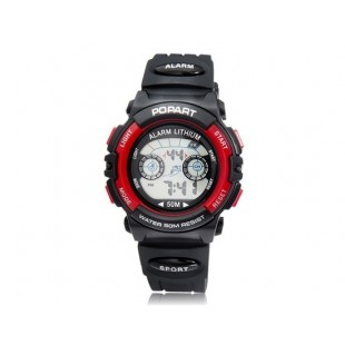 POPART 310 30M водонепроницаемые спортивные часы (красные)