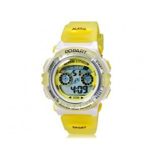 POPART 310 30m водонепроницаемые спортивные часы (желтые)
