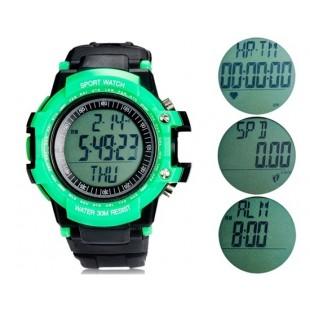 Heart Rate Monitor часы с шагомером (зеленые)