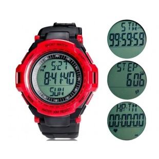 Heart Rate Monitor часы с шагомер (красные)