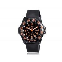 Y & B 8228 унисекс круглый циферблат Дайвинг спортивные часы (оранжевый)