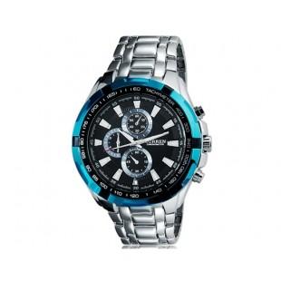 CURREN 8023 водонепроницаемые спортивные часы (синие)