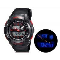 790 мужскиет аналоговые и цифровые дисплей часы (красные)