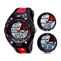 Так AD1304 водонепроницаемые спортивные часы с силиконовым ремешком (красные)