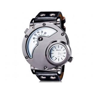 OULM 9591 Стильные мужские Аналоговые часы и кожаный ремешок