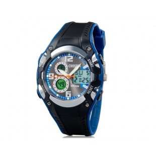 OHSEN AD1309 30 м Водонепроницаемые спортивные часы с пластиковым ремешком (синие)