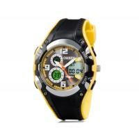 OHSEN AD1309 30 м Водонепроницаемые спортивные часы с пластиковым ремешком (желтые)