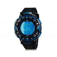OREEX 2041 мужские Круглый цифровые 30 м Водонепроницаемые спортивные часы (черные)