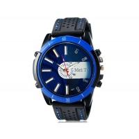 MEITE 1801  часы с кварцевым механизмом и каучуковый ремешок (синие)