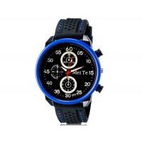MEITE 1803  кварцевые аналоговые часы и каучуковый ремешок (синие)