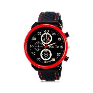 MEITE 1803 кварцевые аналоговые часы и каучуковый ремешок (красные)